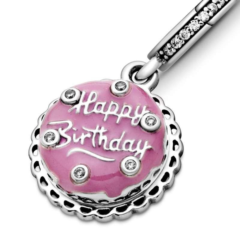 Viseći privezak Roze rođendanska torta