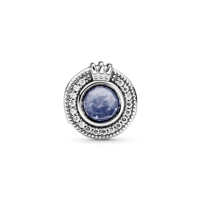 Privezak Svetlucava plava Pandora O kruna